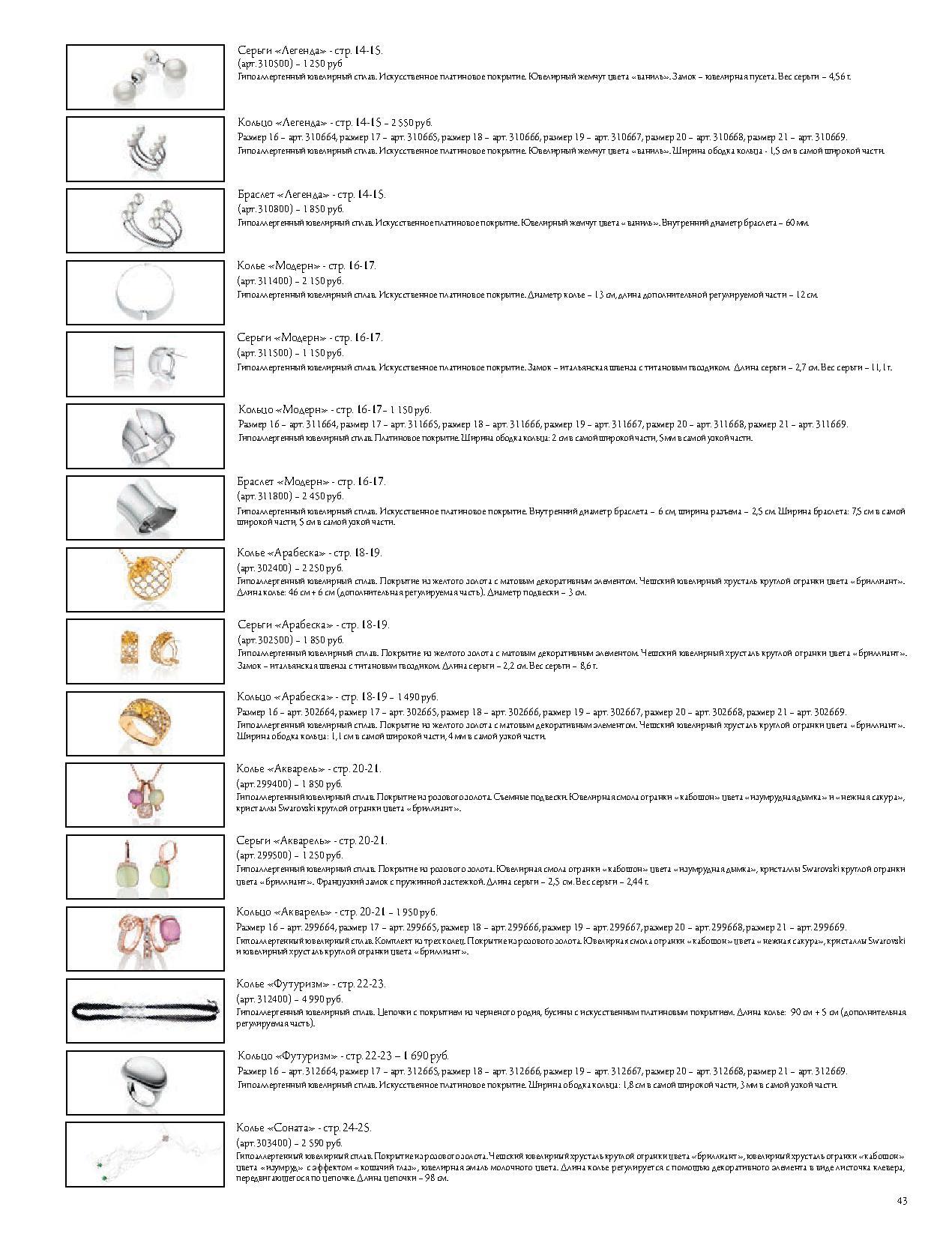 Описание бижутерии стр 14-25
