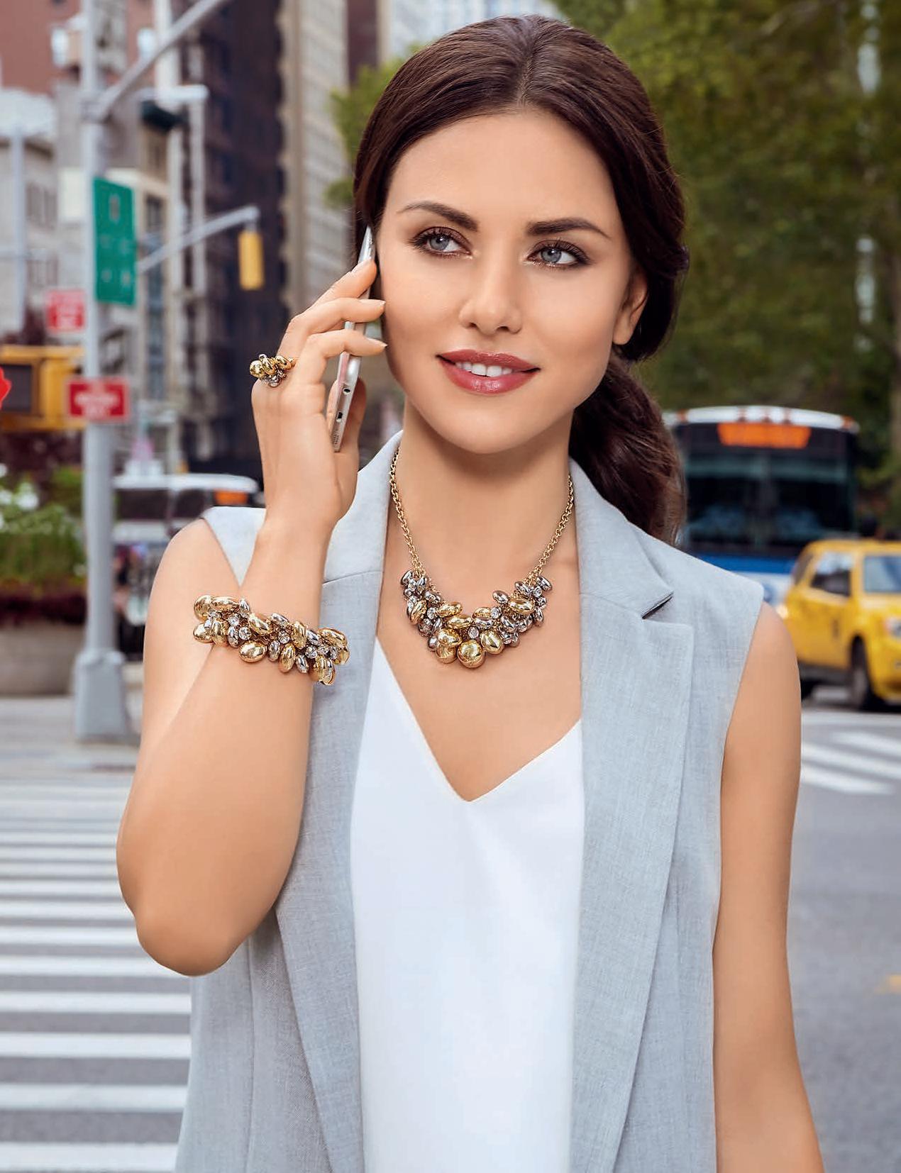 """Бижутерия Флоранж - Ожерелье, браслет и кольцо """"Манхэттен"""""""