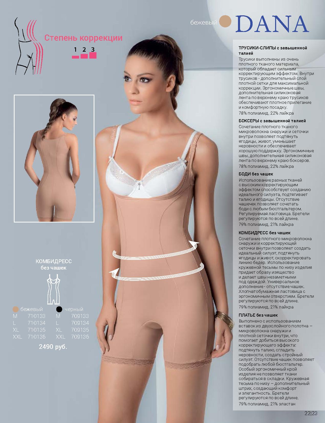 Флоранж - комплект коррекции Дана - платье, боди, боксеры, комбидресс и трусики-слипы